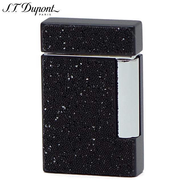 愛用 S.T.Dupont エス・テー 25100S・デュポン 25100S LINE8 ガスライター ブラック スワロフスキー ブラック ライン8 クリスタルパウダー ライン8, シオガマシ:897b1294 --- clftranspo.dominiotemporario.com