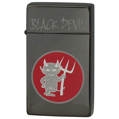 【送料無料】 SAROME SRM BLACK DEVIL (C) ガスライター ブラックニッケル ブラックデビル サロメ