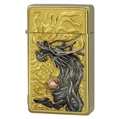 【送料無料】 SAROME SRM EXCEL 龍王 Gold ガスライター ドラゴン 竜 ゴールド サロメ