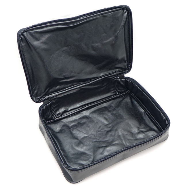 レザー 牛革 マルチケース ブラック コレクターズケース ポーチ セカンドバッグ バッグインバッグ 本革 小物入れ 【あす楽対応】【RCP】