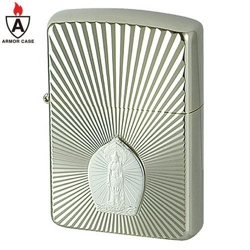 zippo ジッポ ジッポー 162WG-釈迦如来 仏教 ご本尊 純銀1000プレート貼り アーマーケース