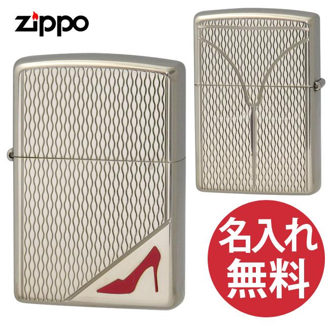 【名入れ無料】zippo ジッポ ジッポー RED High heel NO シルバーニッケル レッド ハイヒール セクシー zippoレギュラー【メール便可】