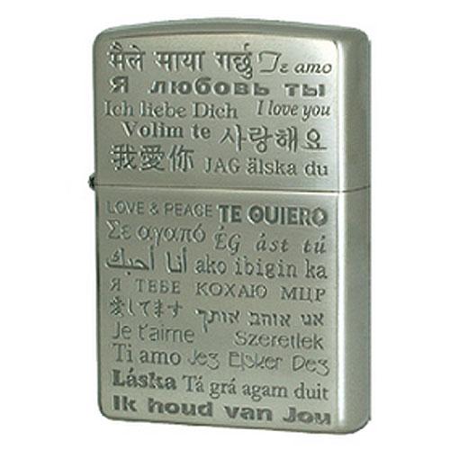 zippo ジッポ ジッポー SKZ-039A ライター 世界の「愛」と「平和」 ラブ&ピース Love Peace メッセージ Silver Oxidized