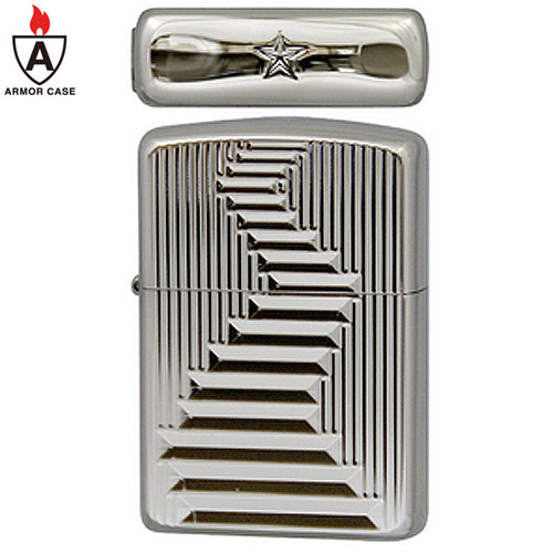 zippo ジッポ ジッポー ライター The Great Wall (A) Platinum Plate 3両面加工 ザ グレート ウォール アーマーケース