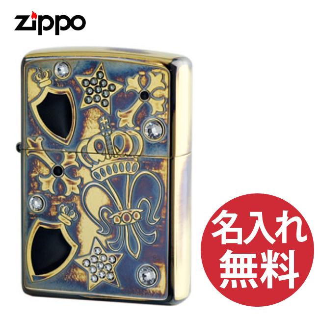 【名入れ無料】zippo ジッポ ジッポー エレガントロック EGR-B ラインストーン ユリ 王冠 星 Elegant Rock レギュラー