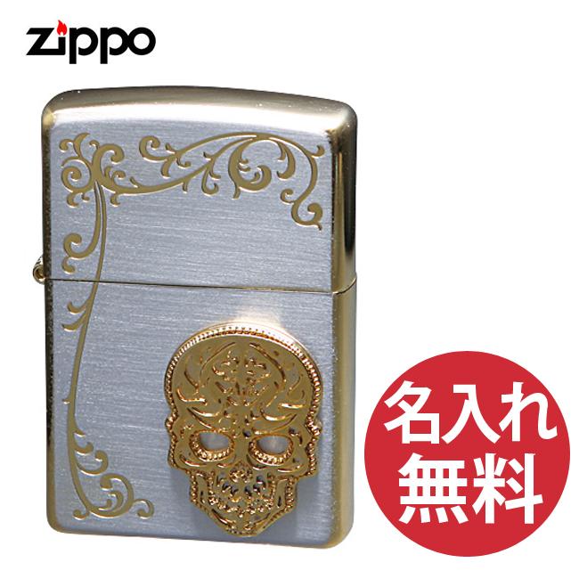 【名入れ無料】zippo ジッポ ジッポー シークレットガーデン TSG-E スカル 骸骨 レギュラー