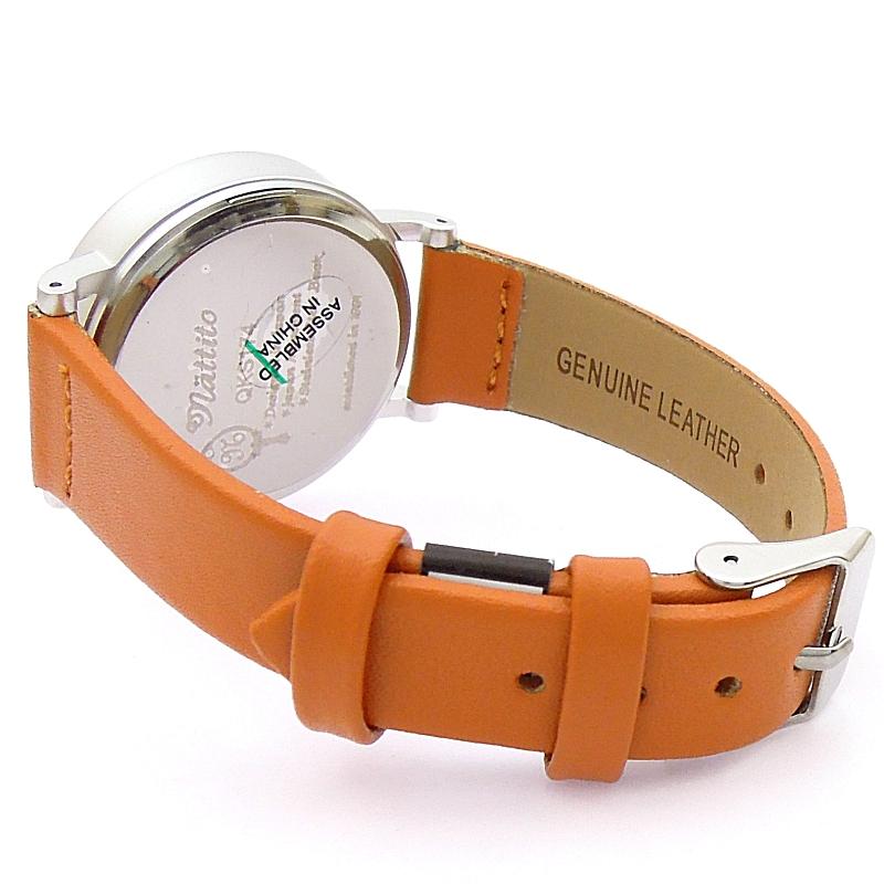 【 メール便  】 大きく 見やすい 本革 レザーベルトウォッチ 【ブラウン】 腕時計 レディース  ポイント 最大43倍 ! お買い物マラソン  母の日 プレゼント にもビアリッツ