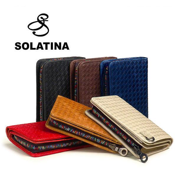 【クーポン対象】SOLATINA/ソラチナ ホースレザー メッシュ2つ折り財布【smtb-kd】fs04gm
