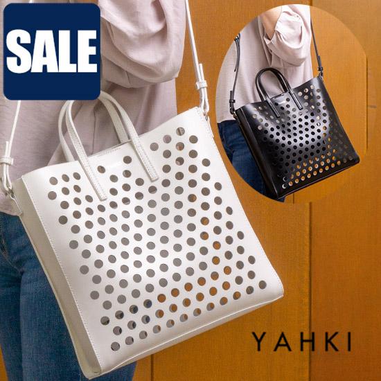 【17%OFFクーポン対象】YAHKI ヤーキ 2WAYパンチングトートバッグ