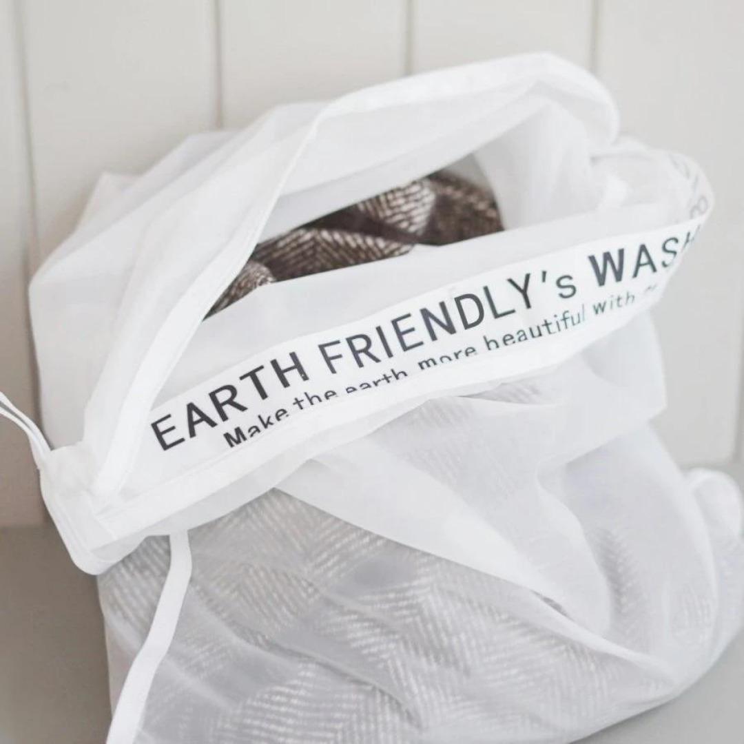 洗濯時に出てしまうマイクロプラスチックを防ぎます できることからひとつずつやってみませんか?Ethical 10%OFF Sustainable Plastic Free サスティナブル マイクロプラスチック 防ぐ 洗濯ネット ウォッシングバッグ ランドリーバッグ 洗濯 おしゃれ 売買 かわいい Earth プラフリー Friendly 環境にやさしい エシカル エコ エコフレンドリー サステナブル メッシュ ポリアミド bag washing 脱プラスチック