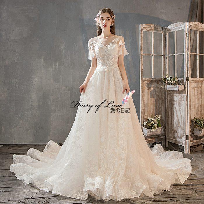 ウェディングドレス 刺繍全体Aラインドレス オフショルター 大きいサイズ 豪華なウェディング エンパイアドレス 二次会 結婚式ドレス トレーンなし/付き Vネック 結婚式/二次会/忘年会/披露宴 花嫁ドレス ウェディングドレス 編み上げ ウエディングドレス XS-XL