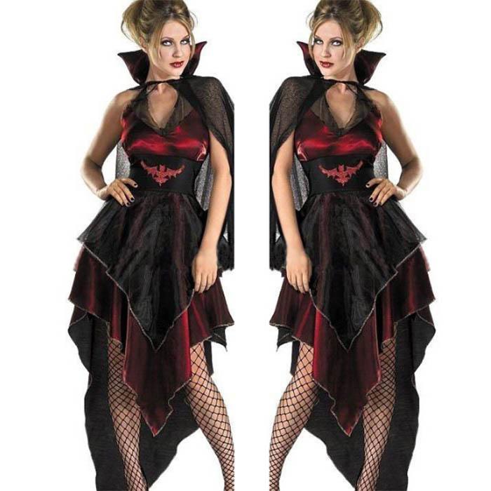 即納ハロウイン コスプレ 衣装 仮装 大人用 ハロウィン衣装 女性 悪魔 魔女  マント付きデビル セクシー  Halloween コスチューム・衣装 ゾンビ花嫁に変装 吸血鬼  巫女 変装 大人用  衣装 ハロウィーン 装飾