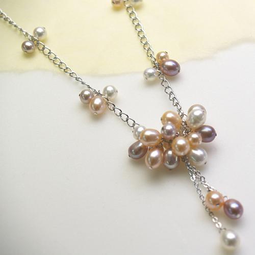 【送料無料】 淡水真珠トロピカルフルーツネックレス まるでトロピカルフルーツみたいなカラフルな真珠 【敬老の日 ギフト プレゼント】
