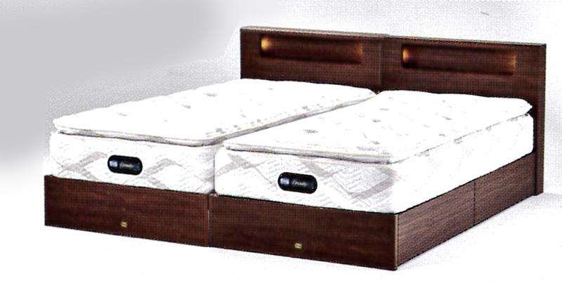 シモンズベッド シングルサイズツインコレクション2019シェルフ35 シングルベッド2台セット引出し収納付きベッド片面ピロートップ高級ホテル仕様