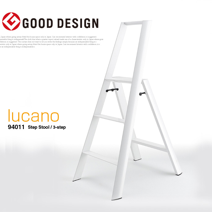 Pleasing Simple Design Step Stepladder Lucano 94011 Step Stool 3 Step Produce By Metaphys Murata Color 3 Colors White Orange Black Caraccident5 Cool Chair Designs And Ideas Caraccident5Info