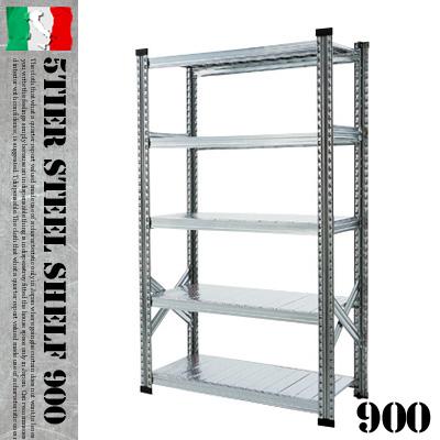 耐久度抜群!MADE IN ITALYのオシャレ収納シェルフ♪ 5TIER STEEL SHELF W900(5ティアー スチールシェルフ) METALSISTEM(メタルシステム) 収納シェルフ・システムシェルフ 001852 送料無料