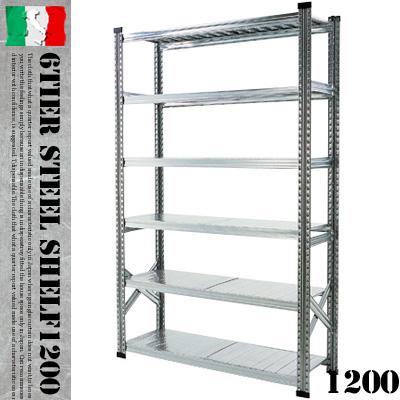 人気ブランドの 耐久度抜群 送料無料!MADE IN SHELF ITALYのオシャレ収納シェルフ♪ 6TIER 6TIER STEEL SHELF W1200(6ティアー スチールシェルフ) METALSISTEM(メタルシステム) 収納シェルフ・システムシェルフ 001883 送料無料, TODAY IS THE DAY:5a228622 --- canoncity.azurewebsites.net