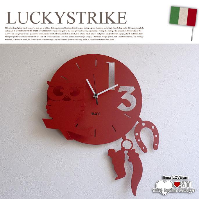 LUCKYSTRIKE(ラッキーストライク) ウォールクロック 掛け時計 ラブ(LOVE) アルティ・エ・メスティエリ(ARTI&MESTIERI) 送料無料