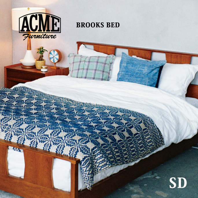 アクメファニチャー カフェスタイルインテリア レトロビンテージテイスト 受注生産品 安い 激安 プチプラ 高品質 おしゃれな家具 アメリカンファニチャー ACME Furniture SEMIDOUBLE BED ブルックスベッド BROOKS セミダブルサイズ