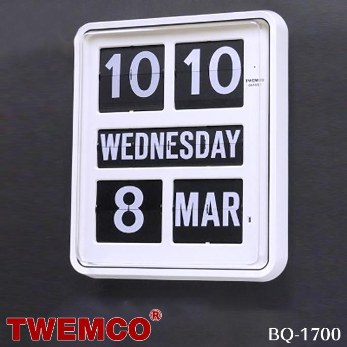 BQ-1700 WALL CLOCK(ウォールクロック) パタパタクロック TWEMCO(トゥエンコ) カラー(ホワイト・ブラック) 送料無料