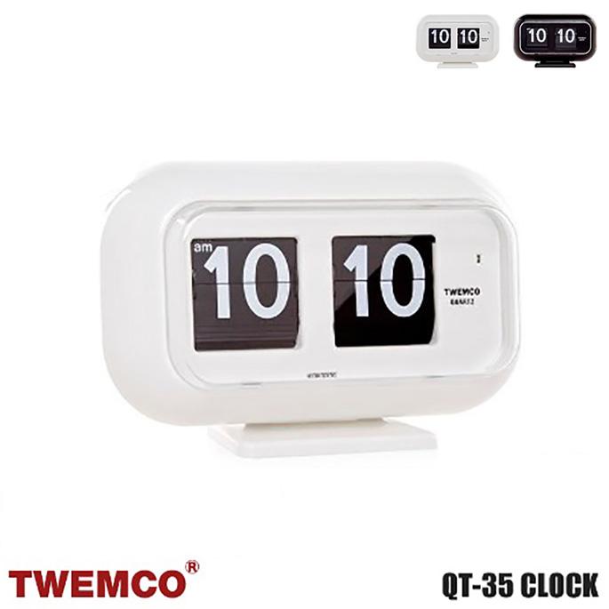 QT-35 WALL&TABLE CLOCK(ウォール&テーブルクロック) パタパタクロック TWEMCO(トゥエンコ) カラー(ホワイト・ブラック) 送料無料