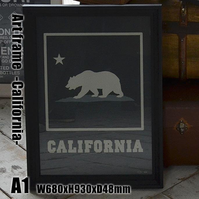 Art Frame California(アートフレーム カリフォルニア) A1 size 黒フレーム TR-4199(CA) ARTWORKSTUDIO(アートワークスタジオ) 送料無料