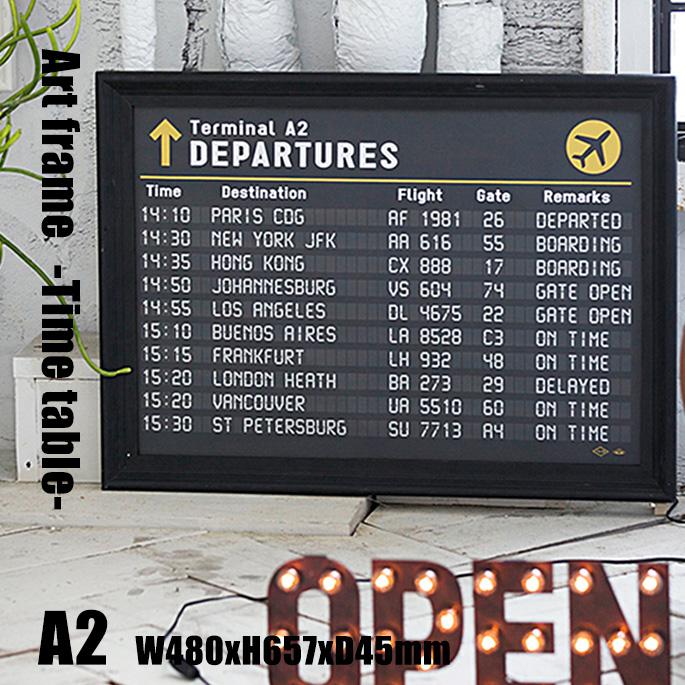 Art Frame Time table(アートフレーム タイムテーブル) A2 size 黒フレーム TR-4198(TT) ARTWORKSTUDIO(アートワークスタジオ) 送料無料