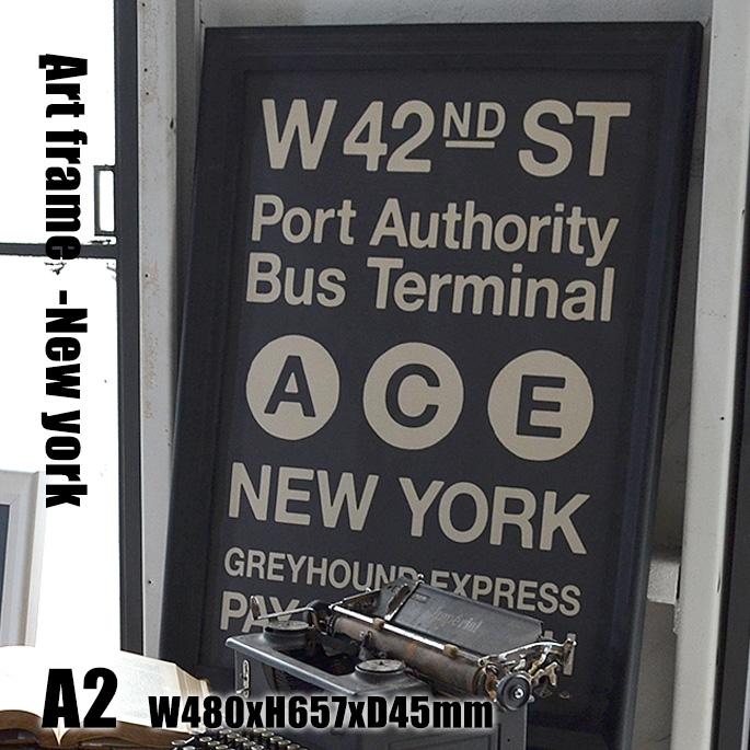 Art Frame New york(アートフレーム ニューヨーク) A2 size 黒フレーム TR-4198(NY) ARTWORKSTUDIO(アートワークスタジオ) 送料無料