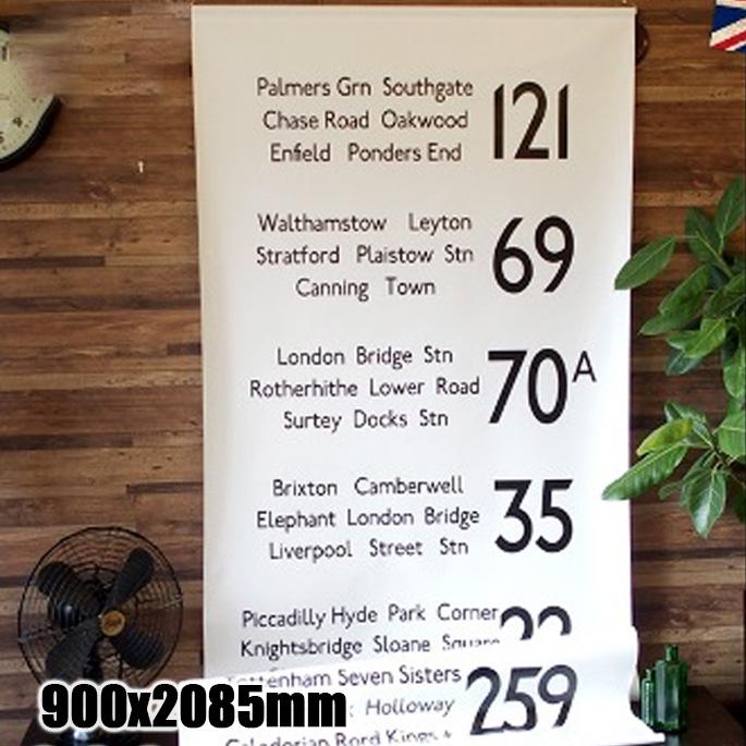 BusRoll Sign Tapestry LONDON 2(バスロールサインタペストリーロンドン2) IBR51724 JIG(ジェイアイジー)