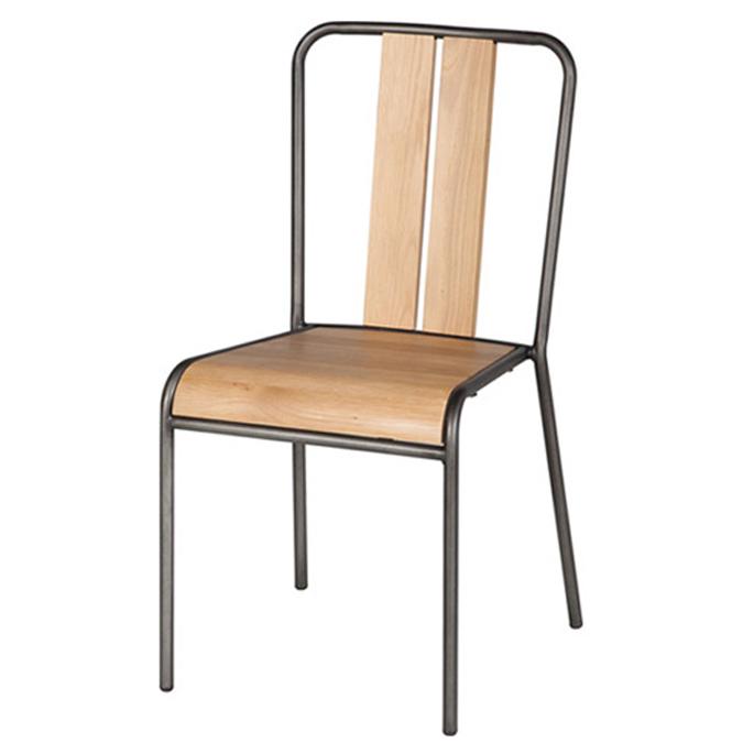 ダイニングチェア 椅子 食卓椅子 チェア オーク リサイクルパイン 大好評です 木製 ナチュラル ブラウン ウッド アイアン スタッキング インダストリアル 男前 ビンテージ レトロ お買得 マンハッタンチェア ASPLUND MANHATTAN 西海岸 ミリタリー アスプルンド 送料無料 CHAIR 男前インテリア