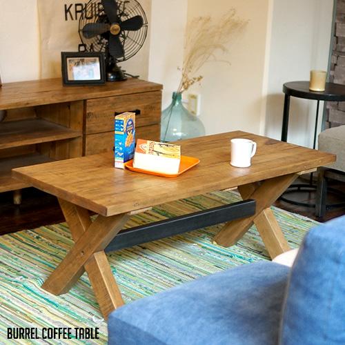 コーヒーテーブル センターテーブル カフェテーブル ローテーブル バレルコーヒーテーブル Burrel coffee Table 115 ビメイクス BIMAKES パイン無垢材 木製 ナチュラル ブラウン 長方形 スクエア 古材風 ヴィンテージ アンティーク