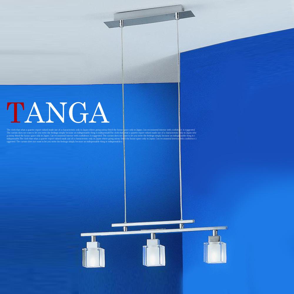光輝くクリスタルガラスセード☆ タンガ クリアランスsale 期間限定 TANGA ペンダント3灯 新着 EGLO エグロ 送料無料 84089J