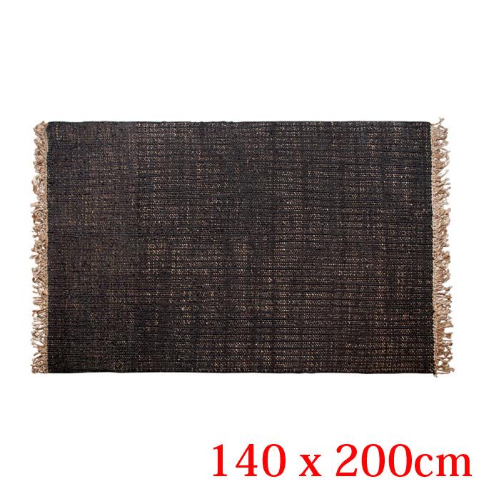 JUTE RUG-PLAIN- Living 140×200cm(ジュートラグプレイン リビング140×200cm) amabro(アマブロ) 2カラー(Black/Natural)