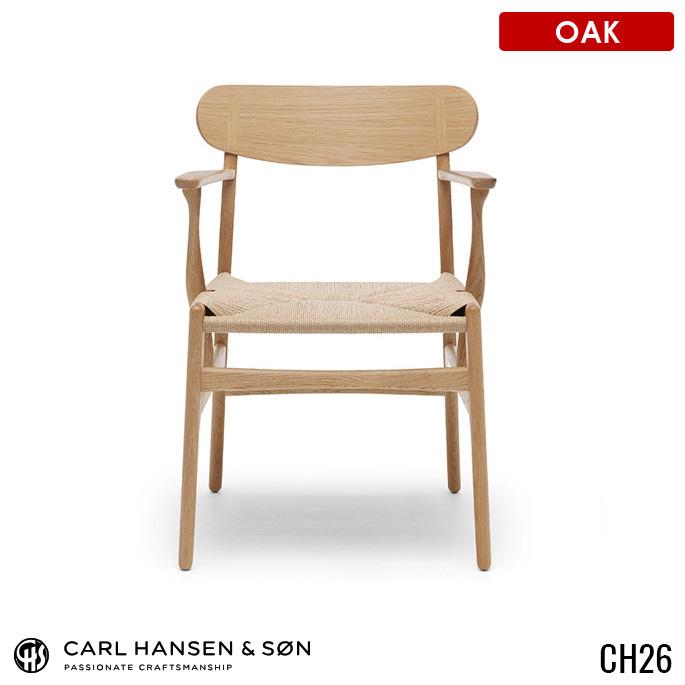 カールハンセン&サン CARL HANSEN&SON チェア CHAIR CH26 オーク Oak ハンス J.ウェグナー HANS J.WEGNER ダイニングチェア 無垢材 1人掛け 北欧 ナチュラル 【送料無料】