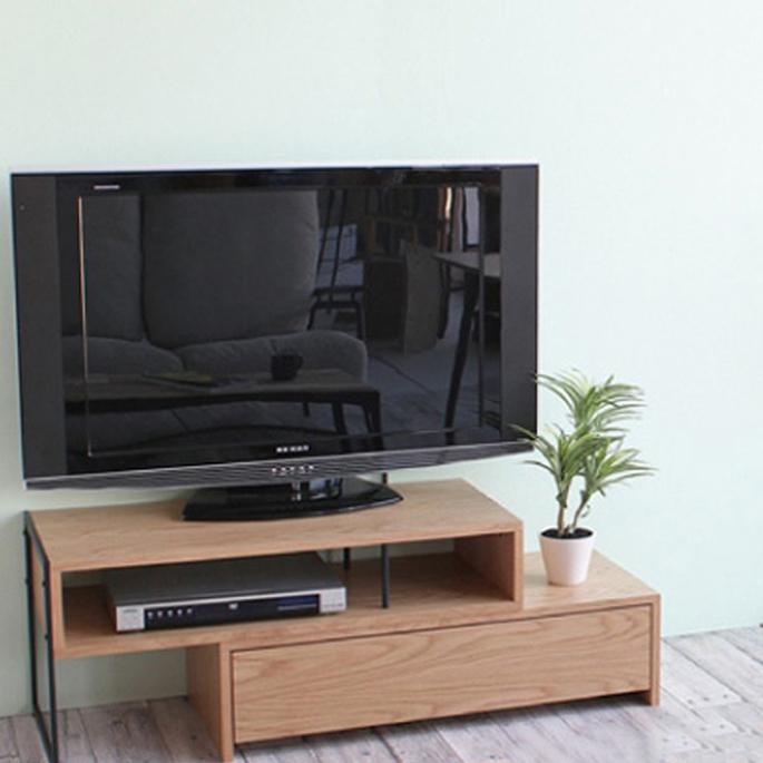 【送料無料】テレビボード 91-161×40×42.5cm アンセム テレビボード anthem TV board ANK-2392NA・ANK-2392BR 可動式 TV台 オーク材 ウォールナット材 スチール 金属 西海岸 カフェ風 新生活 引越