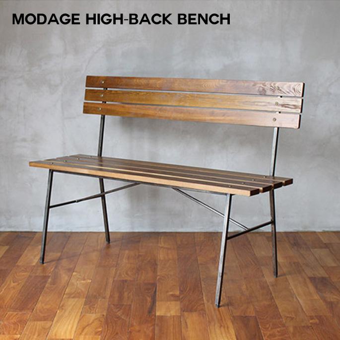 【送料無料】 ダイニングハイバックベンチ 114×47×80(SH440)cm モダージュハイバックベンチ modage high-back bench MDG-HBB-001 アデペシュ a depeche 食卓用ベンチ 背もたれ有りベンチ 座高44cm シートハイ 無垢材 天然木