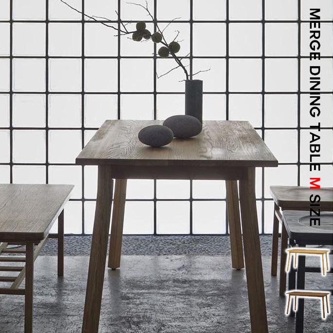 シーヴ SIEVE merge dining table Msize マージ ダイニングテーブル Mサイズ SVE-DT003M スタイリッシュ ナチュラルモダン コンパクト家具 西海岸 【送料無料】