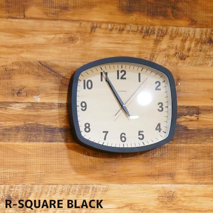 送料無料壁掛け時計317R-スクエア ブラックR-SQUARE BLACKCH-028BKブラックウォールクロック 時計 かけ時計 電波時計ウッド調 木目 木製 スイープムーブメント 電波 日本製レトロ シンプル おしゃれ お祝い プレゼント 新築