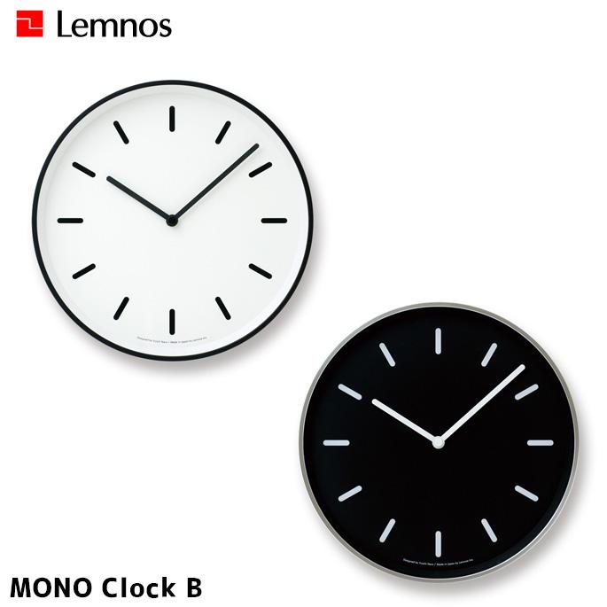 掛け時計 幅256mm モノクロックB MONO Clock B タカタレムノス Lemnos LC10-20 B ホワイト ブラックウォールクロック 時計 かけ時計 ヴィンテージ レトロ カフェ風 シック シンプル アルミ鋳物