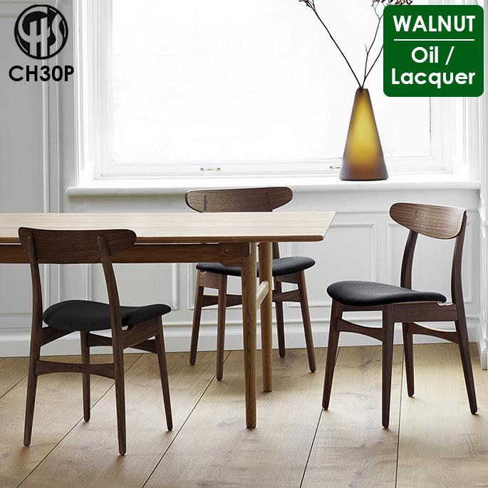チェア CH30P ラッカー仕上げ オイル仕上げ カールハンセン&サン CARL HANSEN&SON ウォルナット WALNUT ダイニングチェア 椅子 ハンス・J・ウェグナー デザイナーズチェア 正規品 北欧 ナチュラル