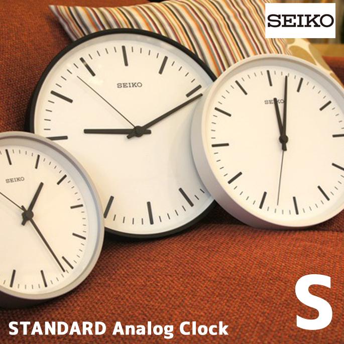 洗練されたデザインとSimple Is Best の高質感クロック! スタンダードアナログクロックS(STANDARD Analog Clock S) KX310K/W/S 掛時計 セイコー(SEIKO) 全3色(ブラック/ホワイト/シルバー) 送料無料