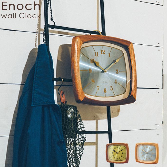 時計 330mm イーノク Enoch インターフォルム INTERFORM CL-3853 LB BN壁掛け時計 ウォールクロック クロック スイープムーブメント 西海岸 カリフォルニア ヴィンテージ