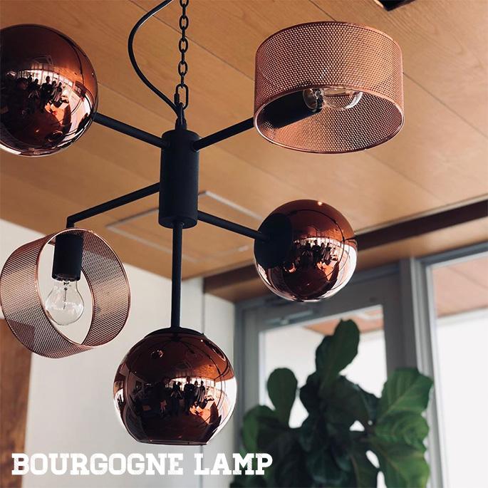 照明 ペンダントライト 幅600mm ブルゴーニュランプ BOURGOGNE LAMP ハモサ HERMOSA GS-020CO コッパー 天井照明 ガラスシェード 5灯 デザイン照明 LED対応 ヨーロピアン スタイリッシュ モダン おしゃれ