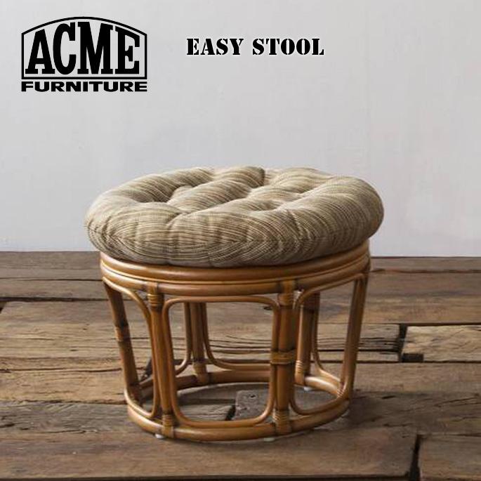 スツール 500mm ウィッカースツール WICKER STOOL アクメ ファニチャー ACME Furniture 18700970059570 18700970018170 RATTAN ベージュ カーキオットマン 西海岸 カリフォルニア ビンテージ