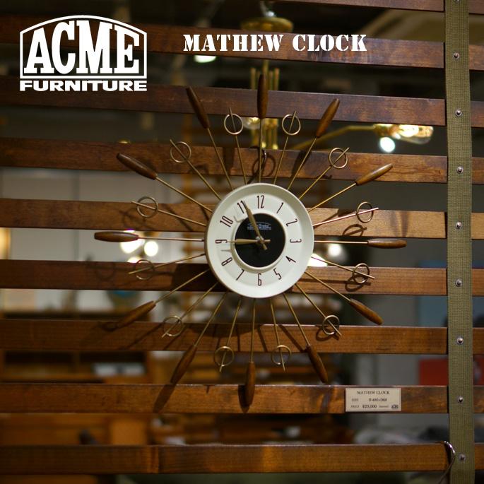 時計 140mm マシュークロック MATHEW CLOCK アクメ ファニチャー ACME Furniture 17016970000170 PINE 掛け時計 ウォールクロック 西海岸 カリフォルニア ビンテージ