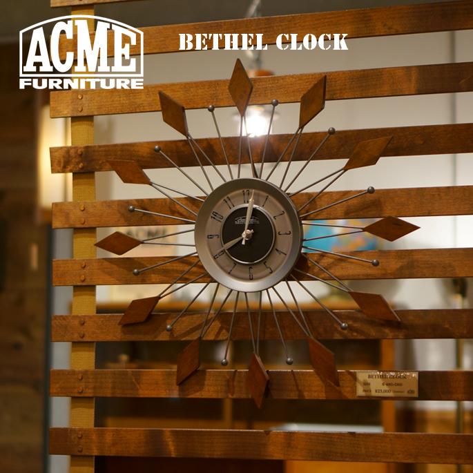 時計 140mm ベテルクロック BETHEL CLOCK アクメ ファニチャー ACME Furniture 17016970000070 PINE 掛け時計 ウォールクロック 西海岸 カリフォルニア ビンテージ