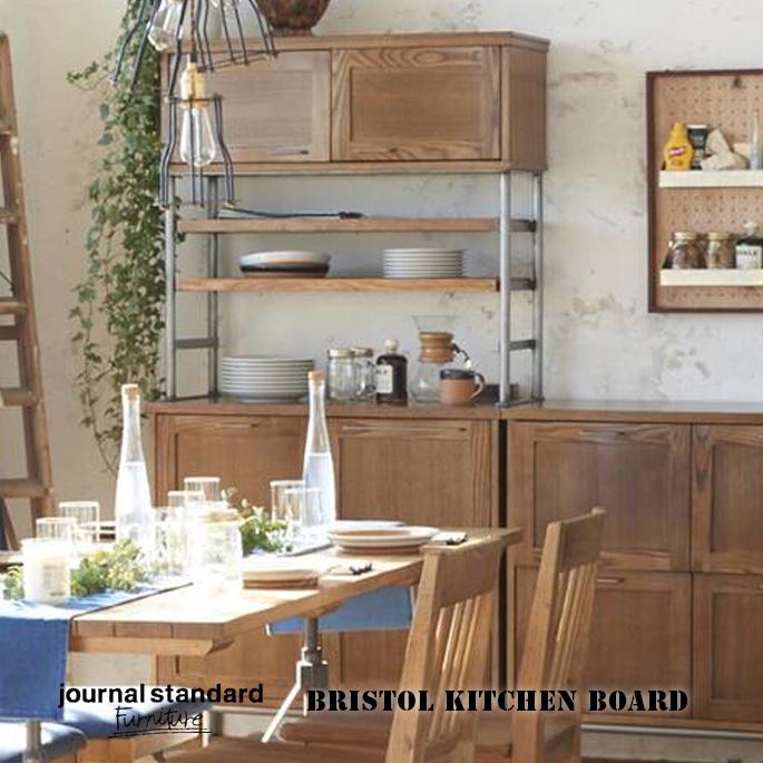 収納 920mm ブリストル キッチンボード BRISTOL KITCHEN BOARD ジャーナルスタンダードファニチャー journal standard Furniture 16707960000270 食器棚 西海岸 ビンテージ インダストリアル