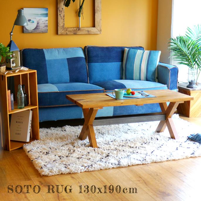 ラグ ソト ラグ 130x190cm soto rug モリヨシ MORIYOSHI ラグ 絨毯 じゅうたん カーペット おしゃれ 西海岸 北欧 ヴィンテージレトロ モロッコ ベニワレン