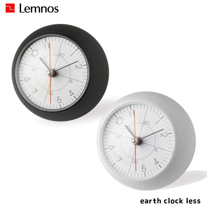 時計 アースクロック レス earth clock less タカタレムノス TAKATA Lemnos TIL19-09 ブラック ホワイト置時計 スタンドクロック スイープセコンド シンプル おしゃれ モノクロ