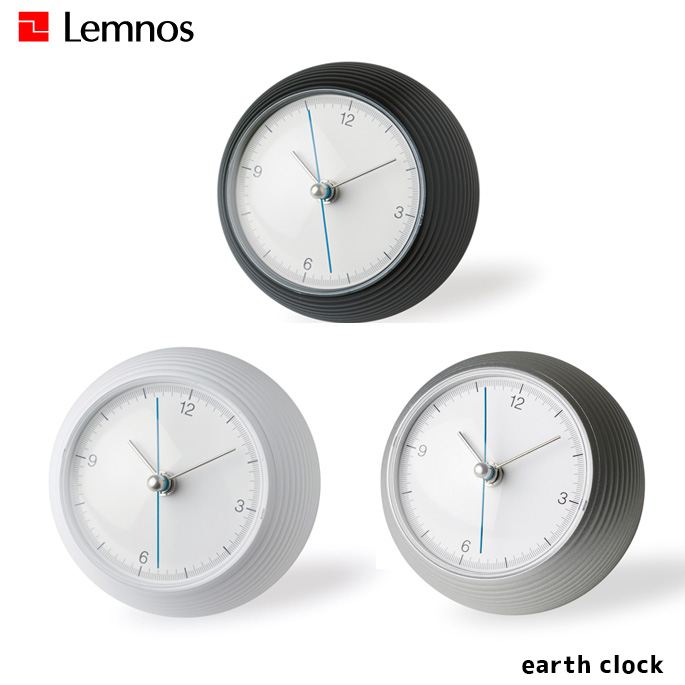 時計 アースクロック earth clock タカタレムノス TAKATA Lemnos TIL16-10 ブラック ホワイト シルバー置時計 スタンドクロック スイープセコンド シンプル おしゃれ モノクロ